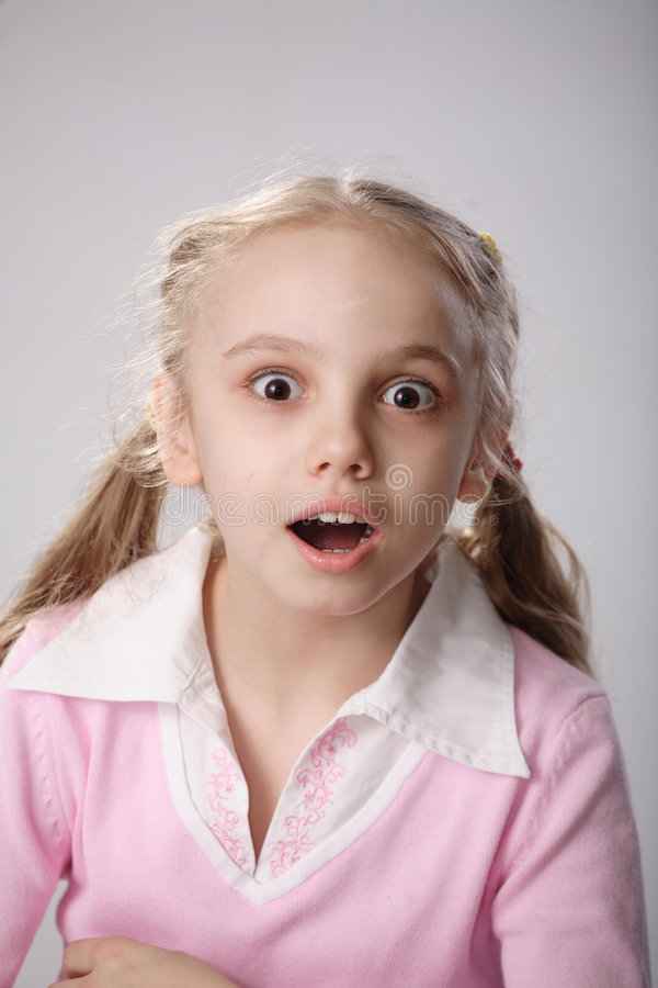 Download Surprised girl stock photo. Image of disbelieving, joyous - 4645600