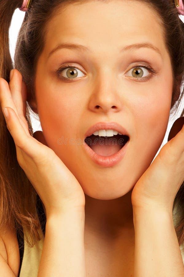 Surprised girl. stock image