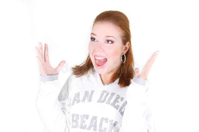 Download Surprised girl over white stock photo. Image of unbelievable - 11669520