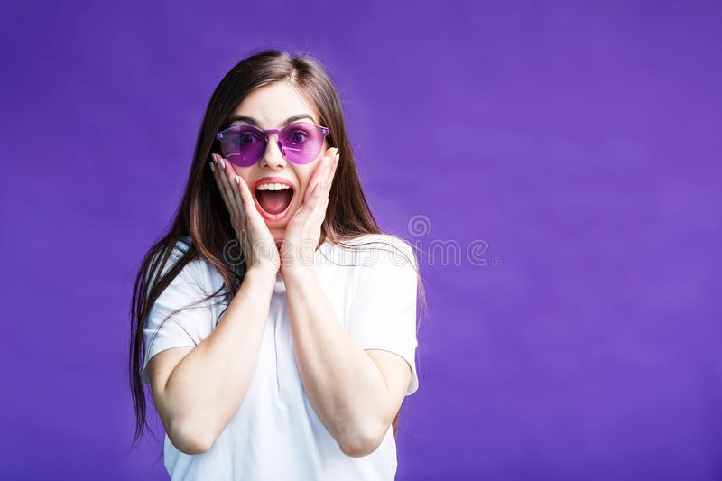 The Surprised Girl royalty free stock photography