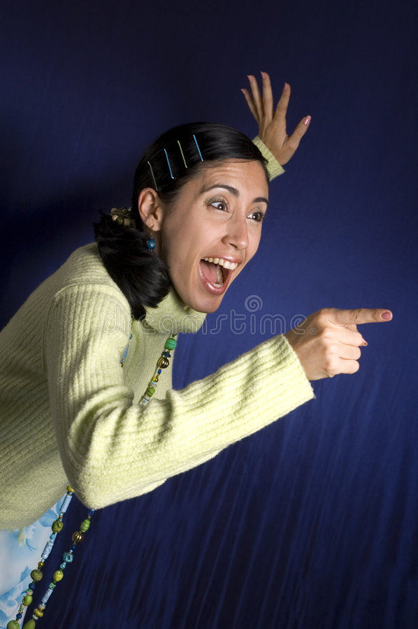 Download Surprised Girl In Winter Clothes Stock Image - Image: 4900003