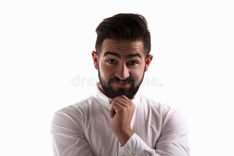 Surprised handsome man royalty free stock image
