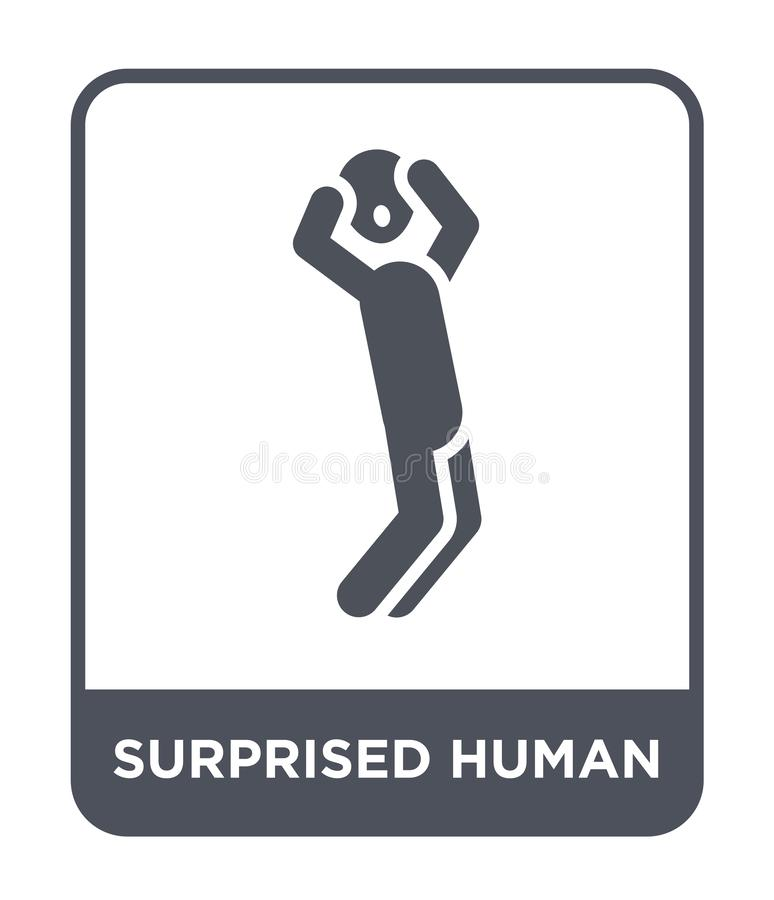 surprised human icon in trendy design style. surprised human icon isolated on white background. surprised human vector icon simple vector illustration