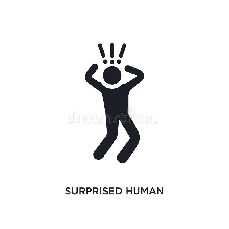 surprised human isolated icon. simple element illustration from feelings concept icons. surprised human editable logo sign symbol royalty free illustration