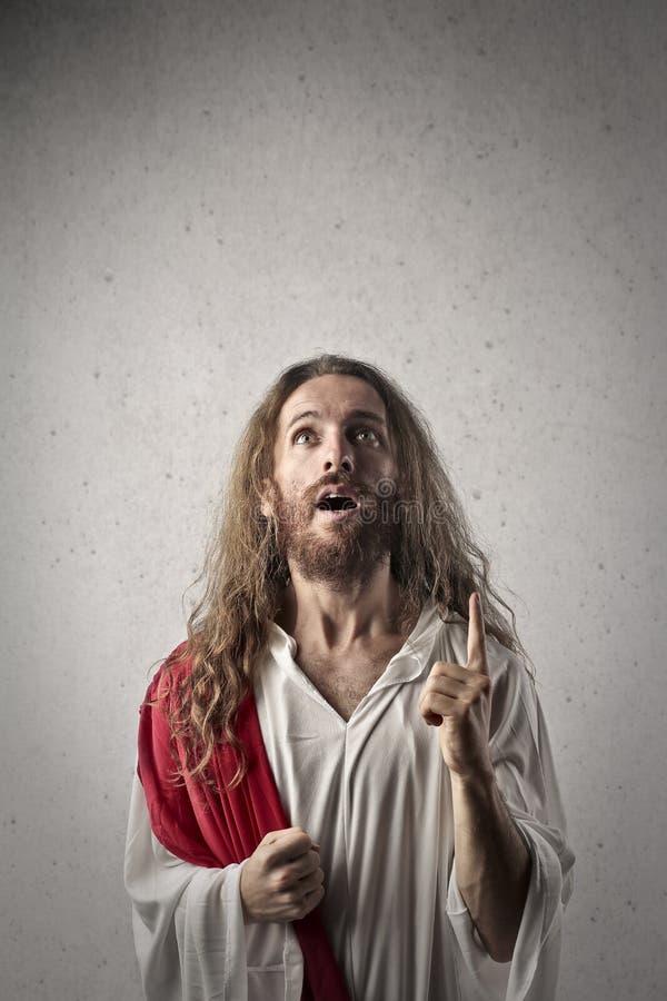 Surprised Jesus royalty free stock photo