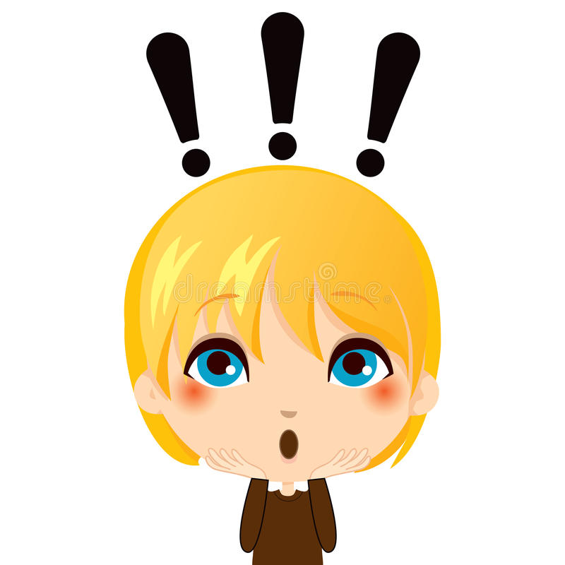 Download Surprised Kid stock vector. Illustration of exclamation - 22962017