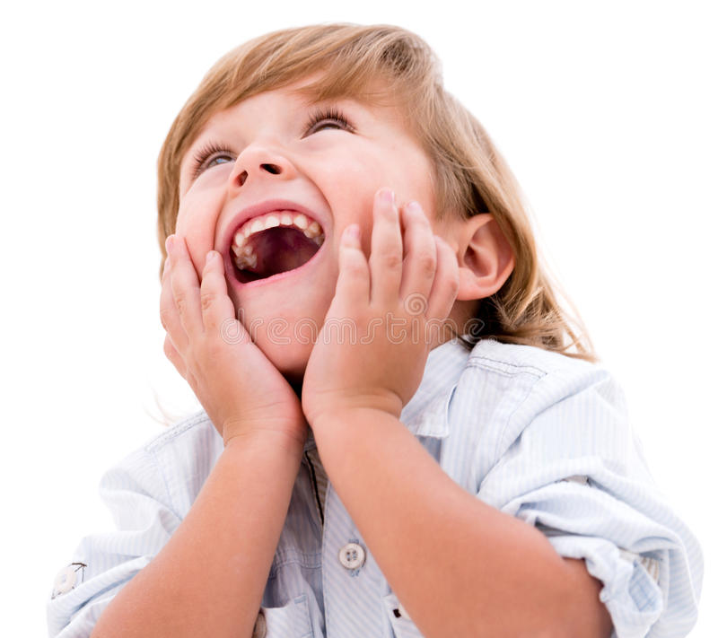 Download Surprised little boy stock image. Image of excitement - 33127499