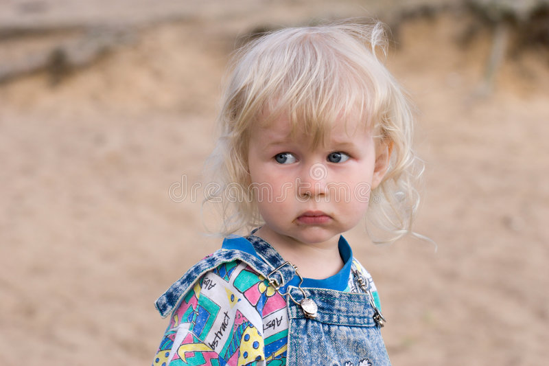 Surprised little girl stock images