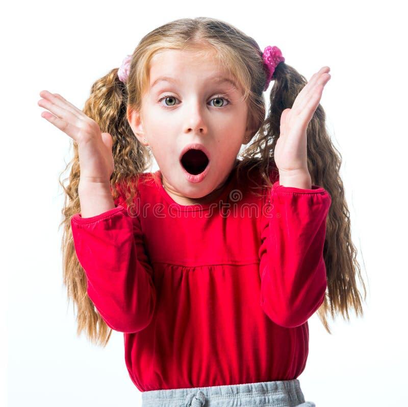 Surprised little girl stock photo