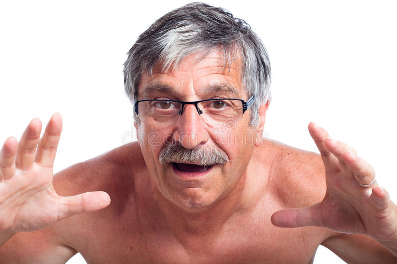 Surprised middle aged man royalty free stock image