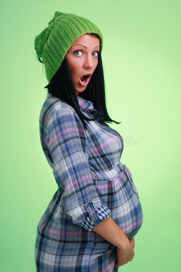 Download Surprised pregnant woman stock photo. Image of mother - 13090796