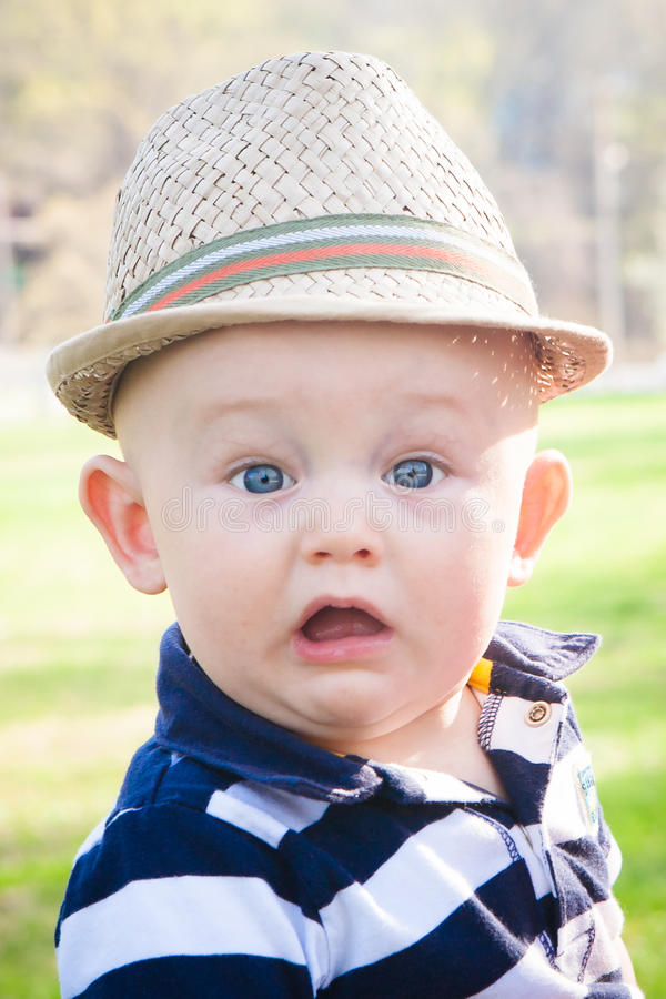 Download Surprised Preppy Baby Boy Stock Photo - Image: 39964502