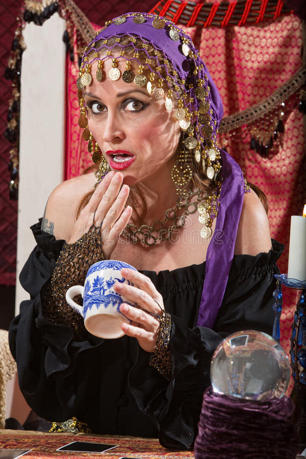 Gypsy Reading Tea Leaves Stock Images - Download 6 Royalty
