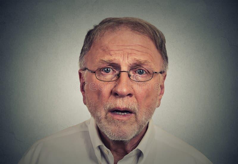 Surprised sad man. Closeup portrait surprised sad man royalty free stock image