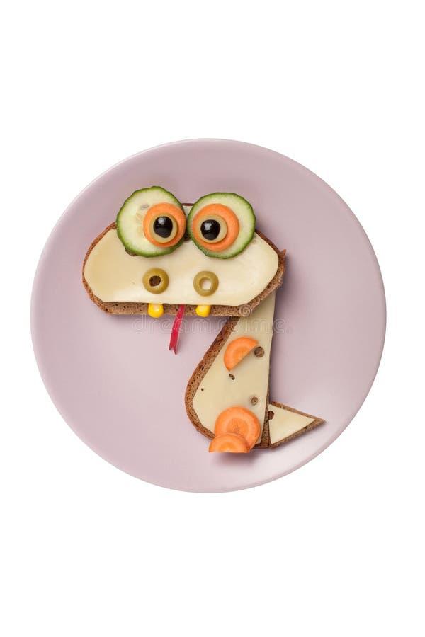 Surprised sandwich dragon stock photos