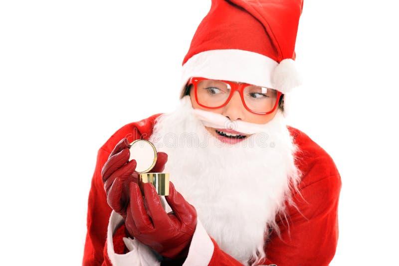 Download Surprised Santa stock photo. Image of season, glasses - 21986646