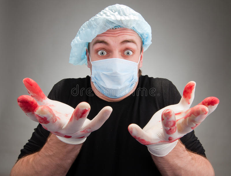 Download Surprised sick surgeon stock image. Image of fear, operating - 18786293