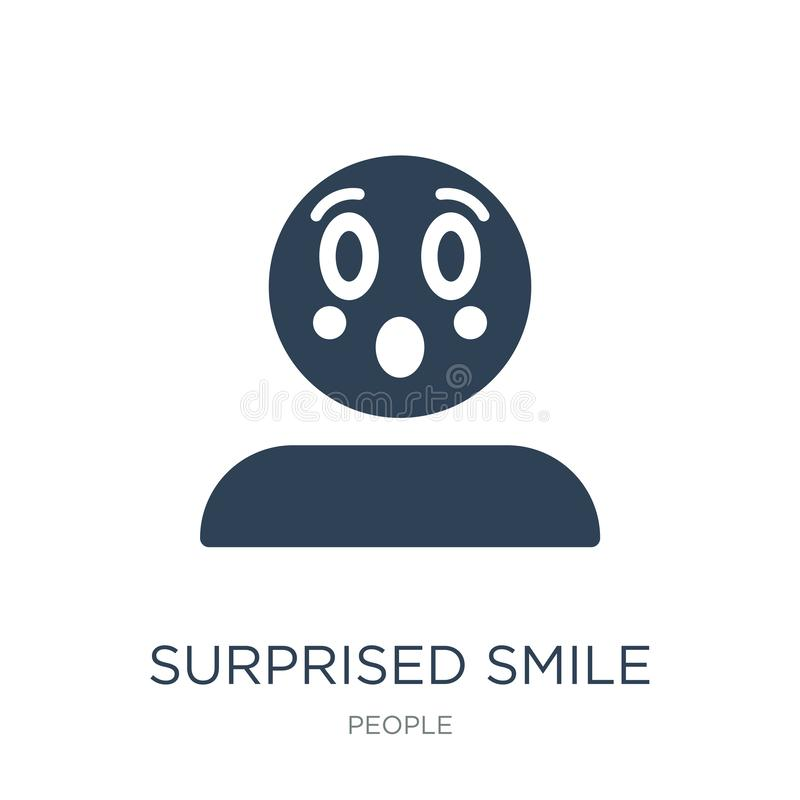 Surprised smile icon in trendy design style. surprised smile icon isolated on white background. surprised smile vector icon simple. And modern flat symbol for royalty free illustration