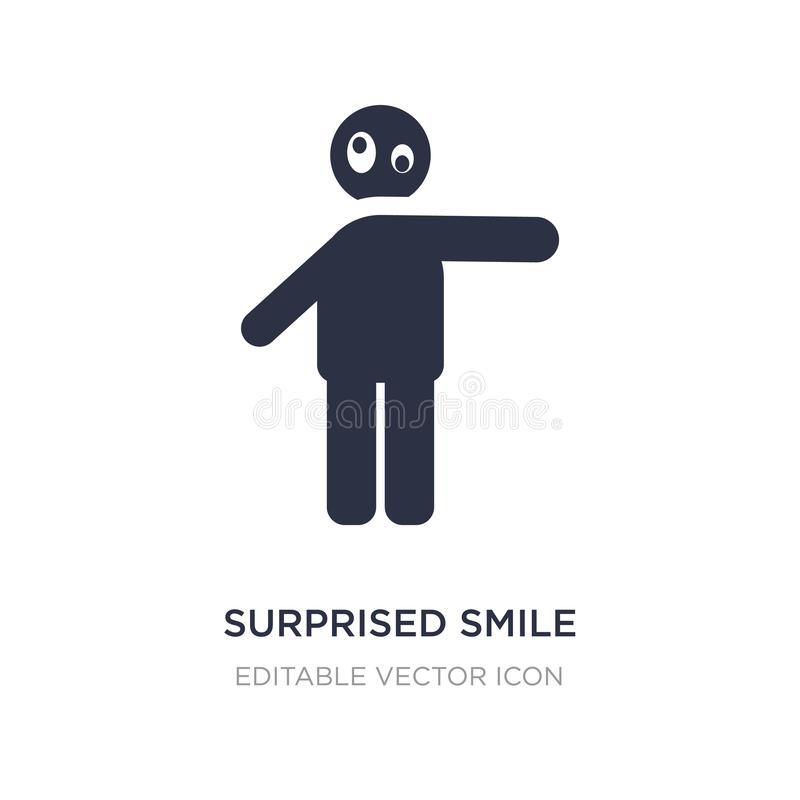 surprised smile icon on white background. Simple element illustration from People concept stock illustration