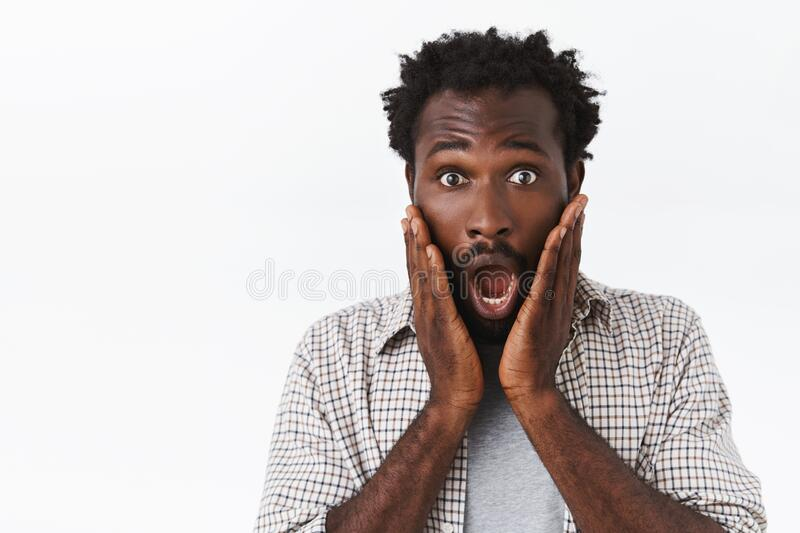Shocked And Speechless Young Stupified African-american