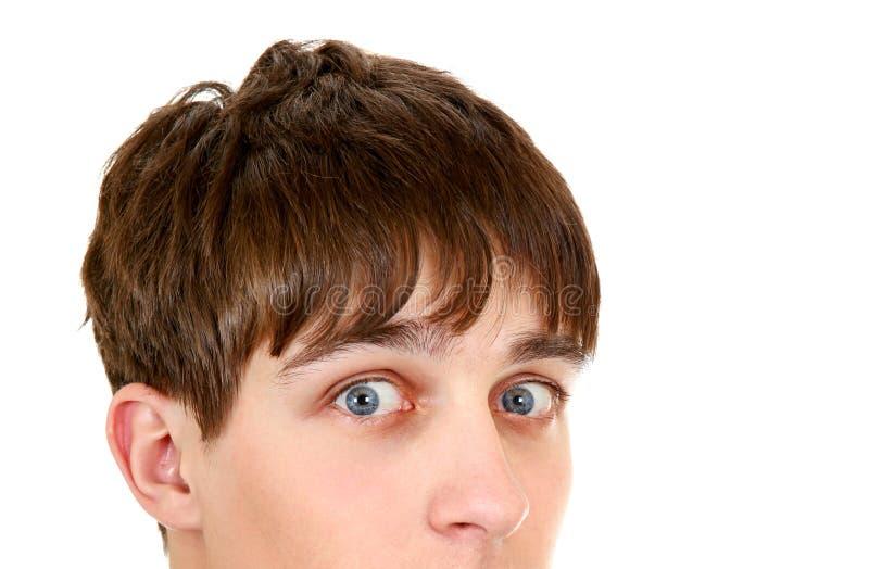 Surprised Teenager closeup stock photo