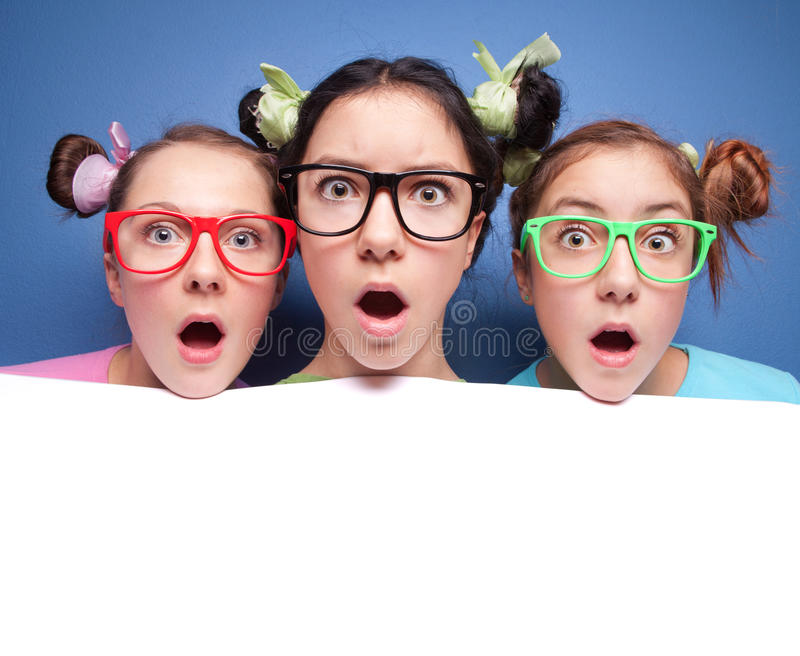 Download Surprised teens stock image. Image of blank, communication - 21203361