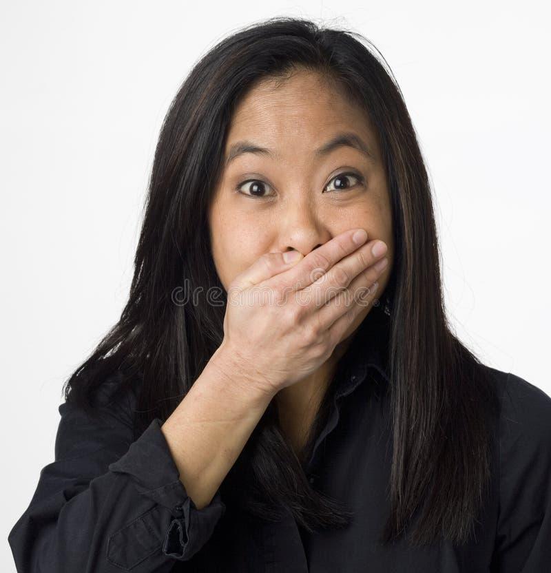 surprised vietnamese woman στοκ εικόνες