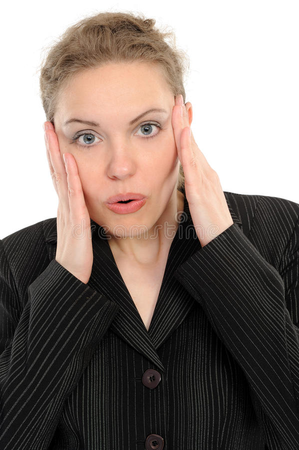 Download Surprised woman stock image. Image of beautiful, looking - 14852851