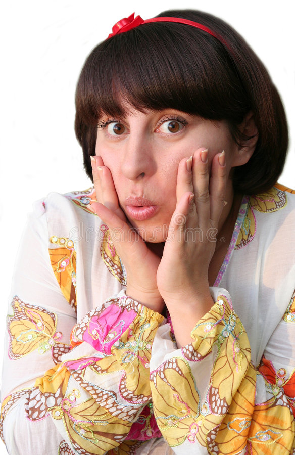 Download Surprised woman stock photo. Image of close, cute, holds - 8824362