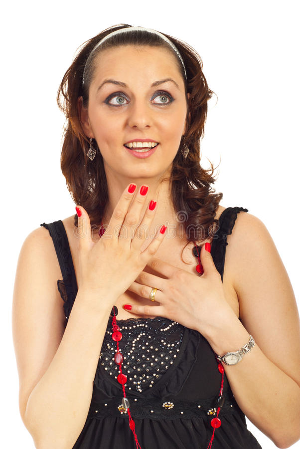 Download Surprised Woman With Blue Eyes Stock Photo - Image: 19683964