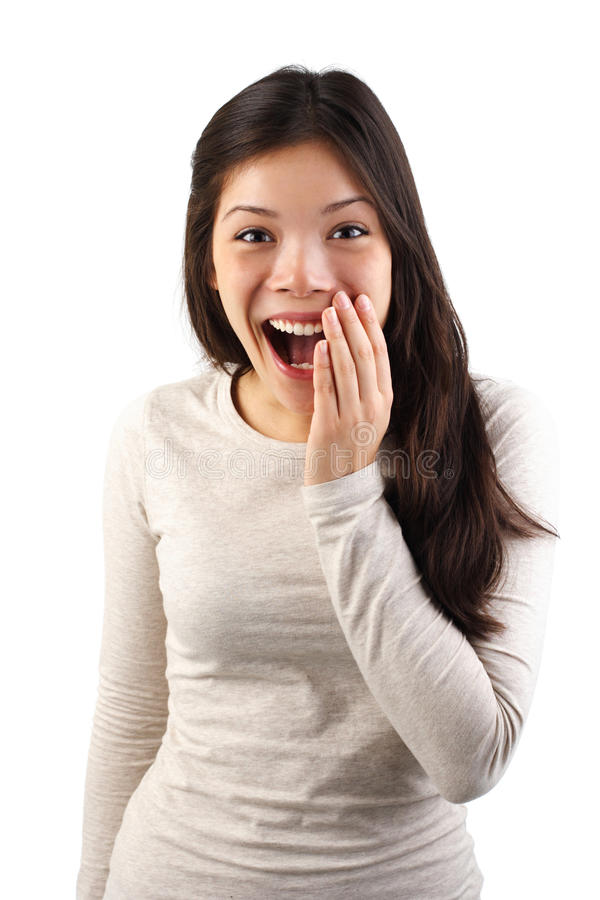 Surprised woman expression stock photos