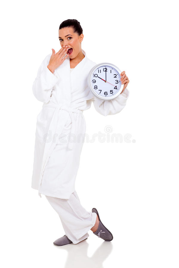 Free Surprised Woman Pajamas Stock Photography - 32664642