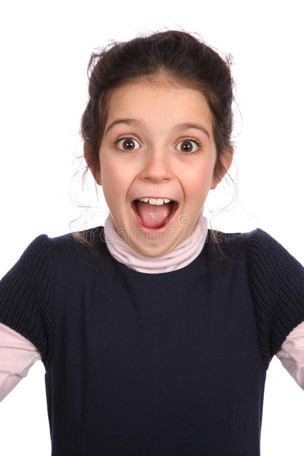 Surprised young girl stock image
