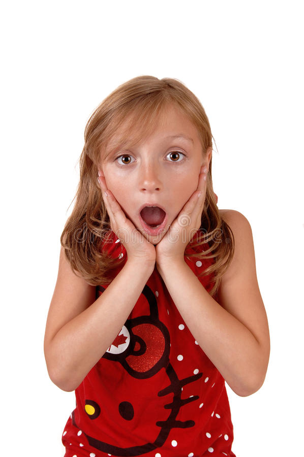 Surprised young girl. stock photography