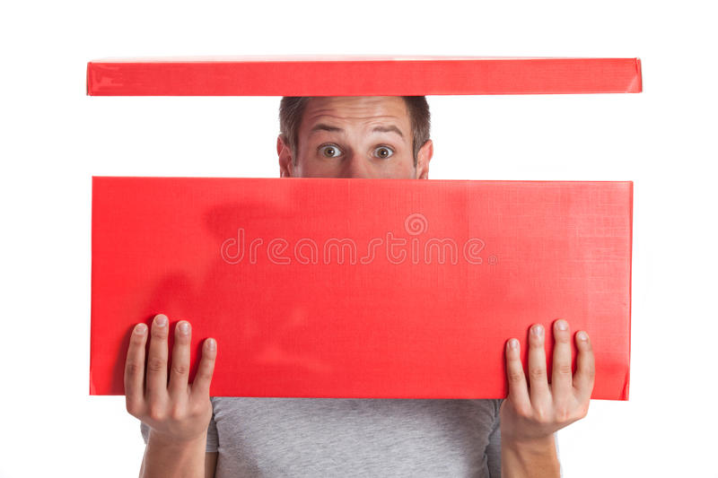 Download Surprised young man stock image. Image of packing, male - 27940041