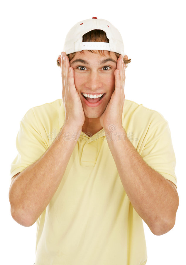 Surprised Young Man stock photos