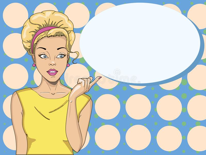 Comic woman. Amazed women. Pop Art girl. Beauty vector illustration