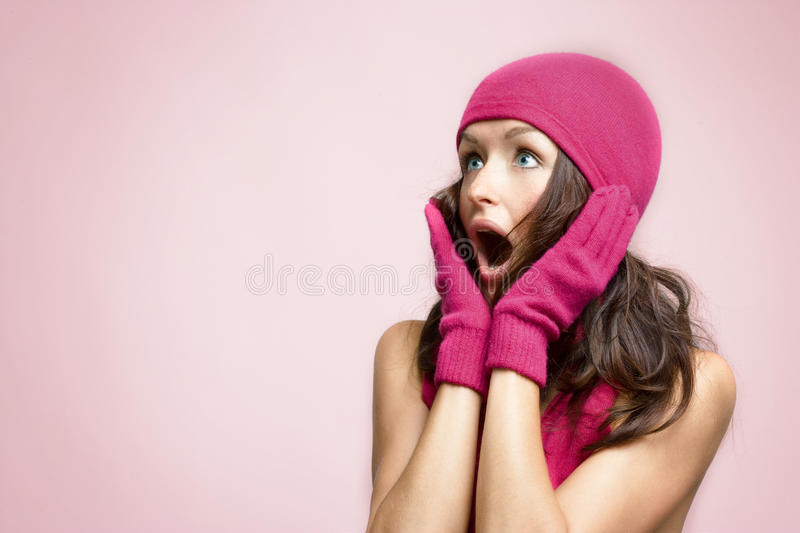 Download Surprised young woman stock photo. Image of emotion, natural - 12501254