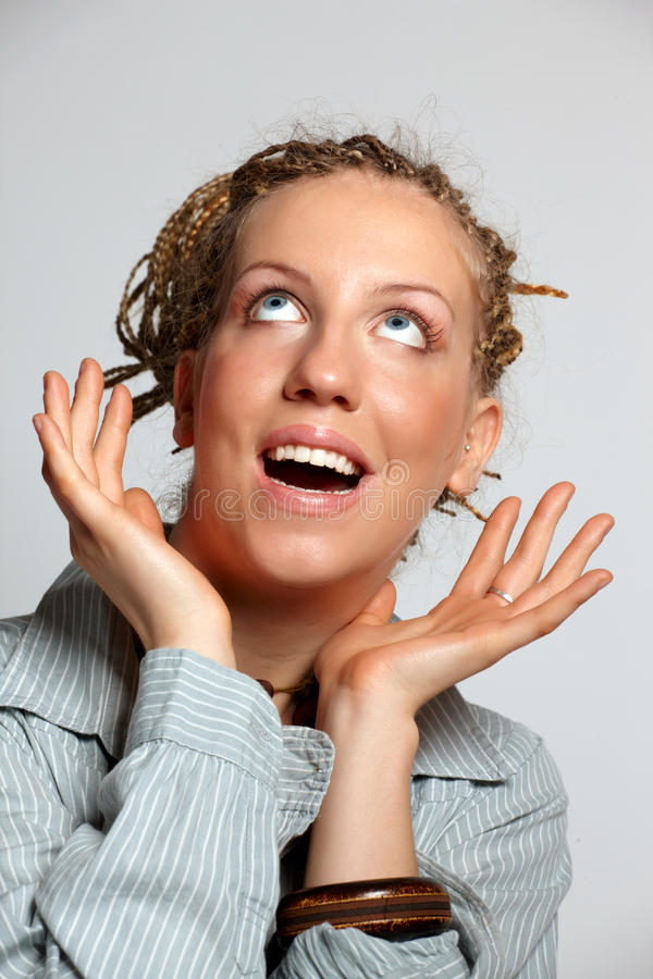 Download Surprised young woman stock image. Image of amazed, facial - 12552493