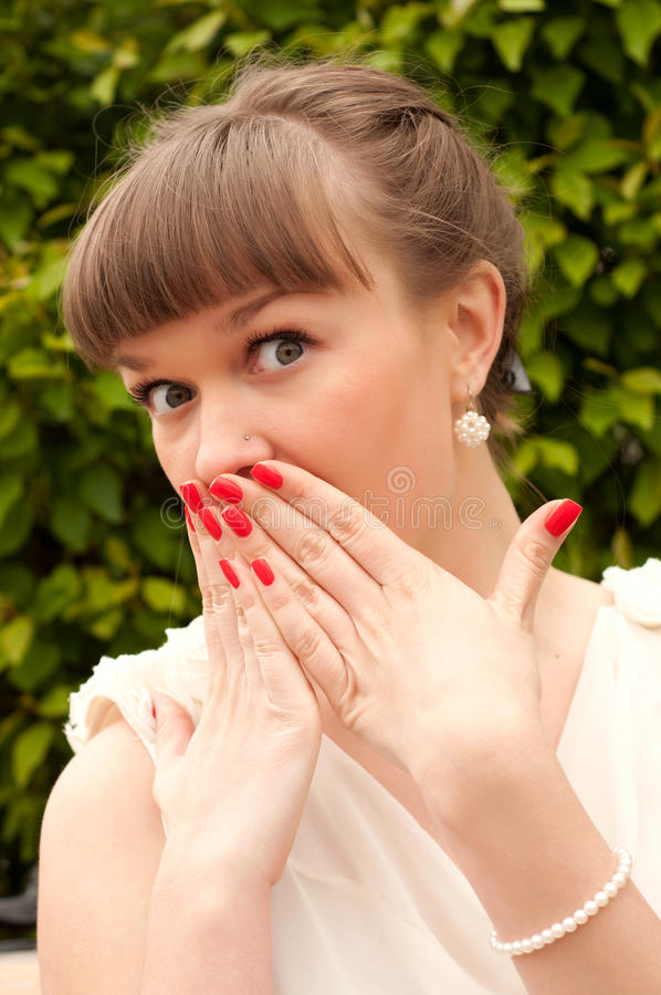 Download Surprised Young Woman Stock Photo - Image: 24984540