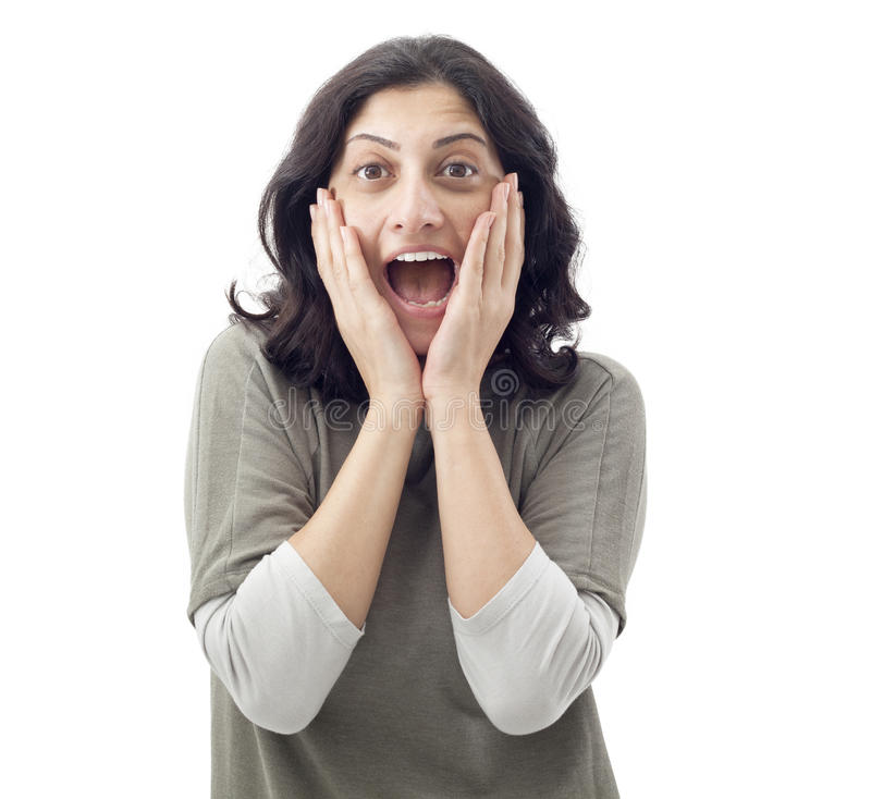 Free Surprised Young Woman Stock Photo - 49451500