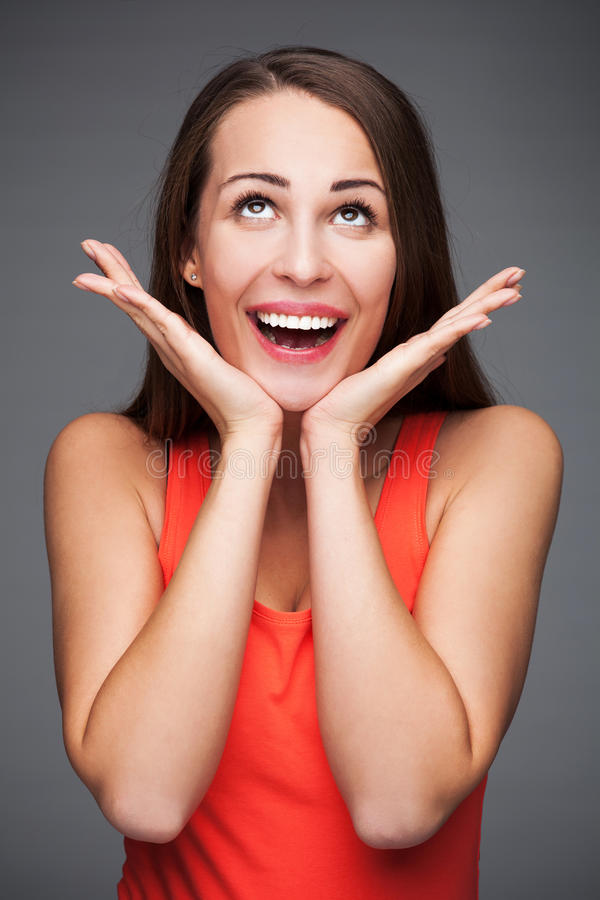 Download Surprised young woman stock image. Image of expression - 37285141