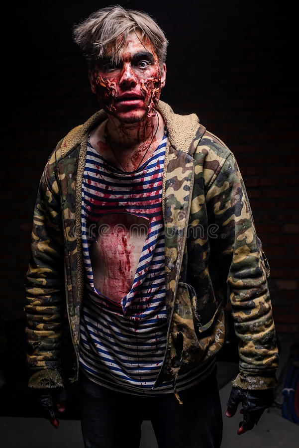 Surprised Zombie In Dirty, Ragged Clothes Editorial Stock ...  Ragged Clothes