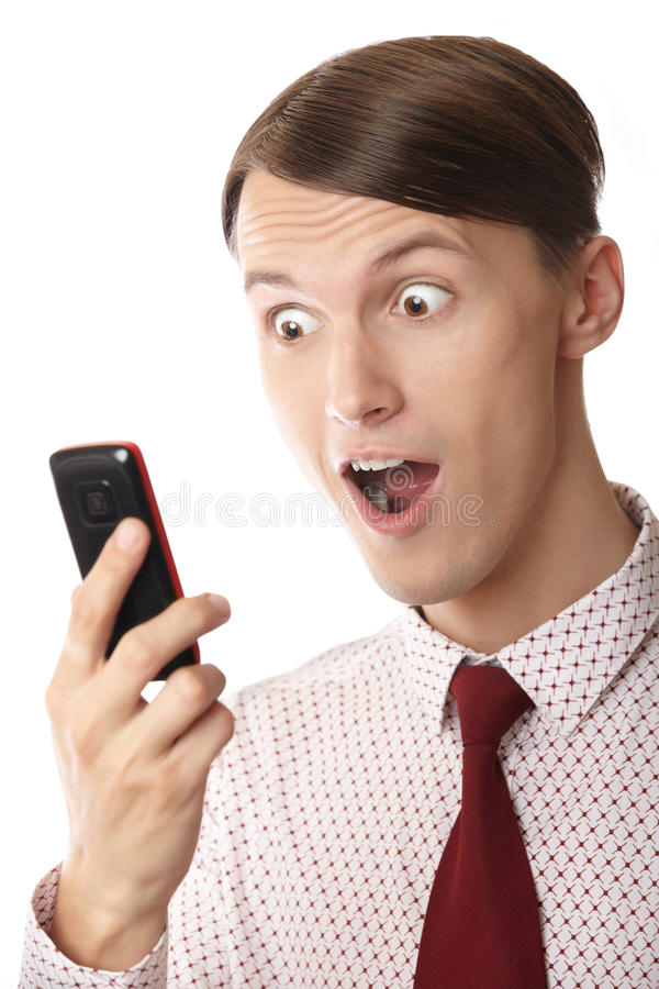 Download Surprising cell phone stock photo. Image of happy, manager - 20817310