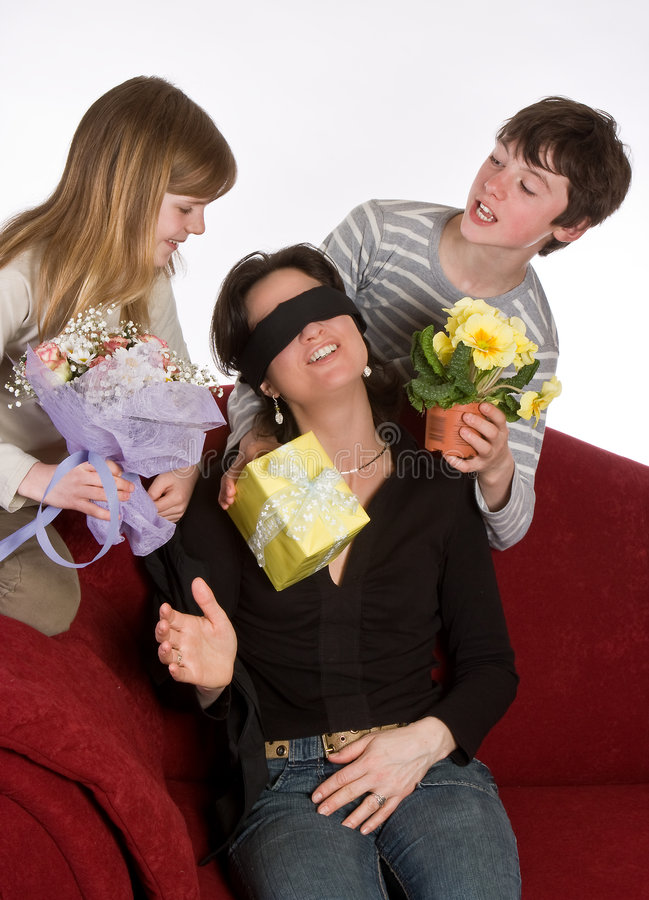 Surprising mother stock photography