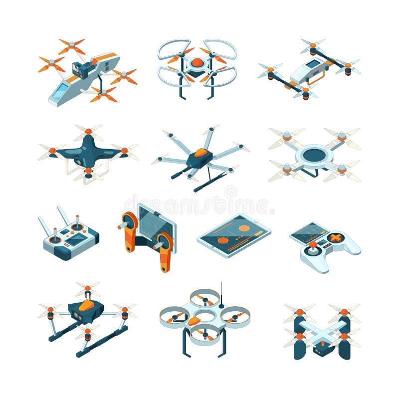 surr Bilder för flyg för vektor för teknik för flygplaninnovation isometriska flyg- vektor illustrationer