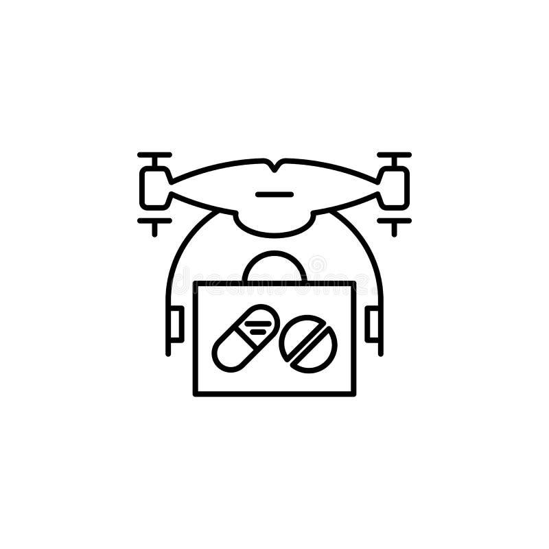 surr med medicinsymbolen Beståndsdel av surr för mobil begrepps- och rengöringsdukappsillustration Tunn linje symbol för websited vektor illustrationer