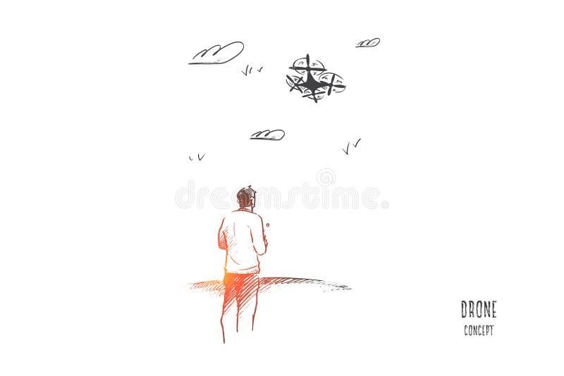 Surrbegrepp Hand dragen isolerad vektor stock illustrationer