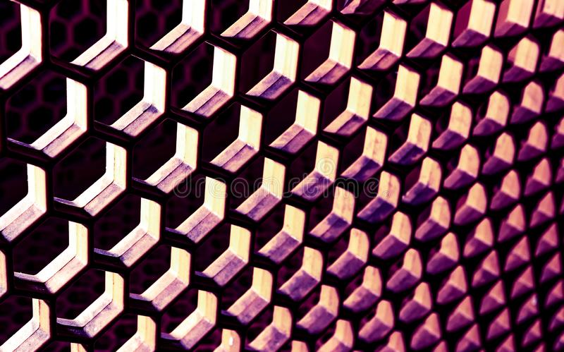 Surreal abstract honeycomb pattern with heavy shadows. Bright highlights royalty free stock images