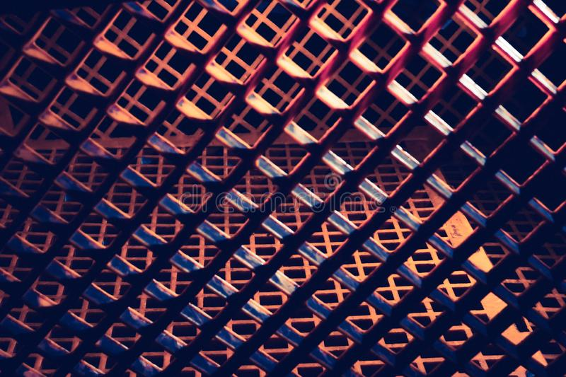 Surreal abstract honeycomb pattern with heavy shadows. Bright highlights royalty free stock image